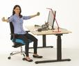 Sitting, standing and moving: the back-friendly office