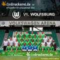 In the Bundesliga season 2011/2012, the brand diedruckerei.de accompanies the first league club VfL Wolfsburg as official print partner. The new partnership also covers perimeter advertising and the playing of TV spots on video screens in the venue of the