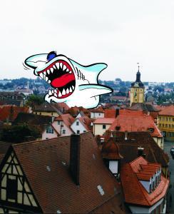 Dachhaie auf den Dächern