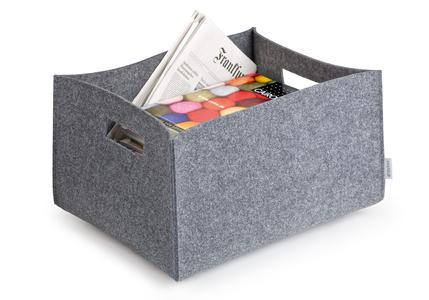 geschenkidee f r puristen filz trage und aufbewahrungsboxen von greybax cleven projekt gmbh. Black Bedroom Furniture Sets. Home Design Ideas