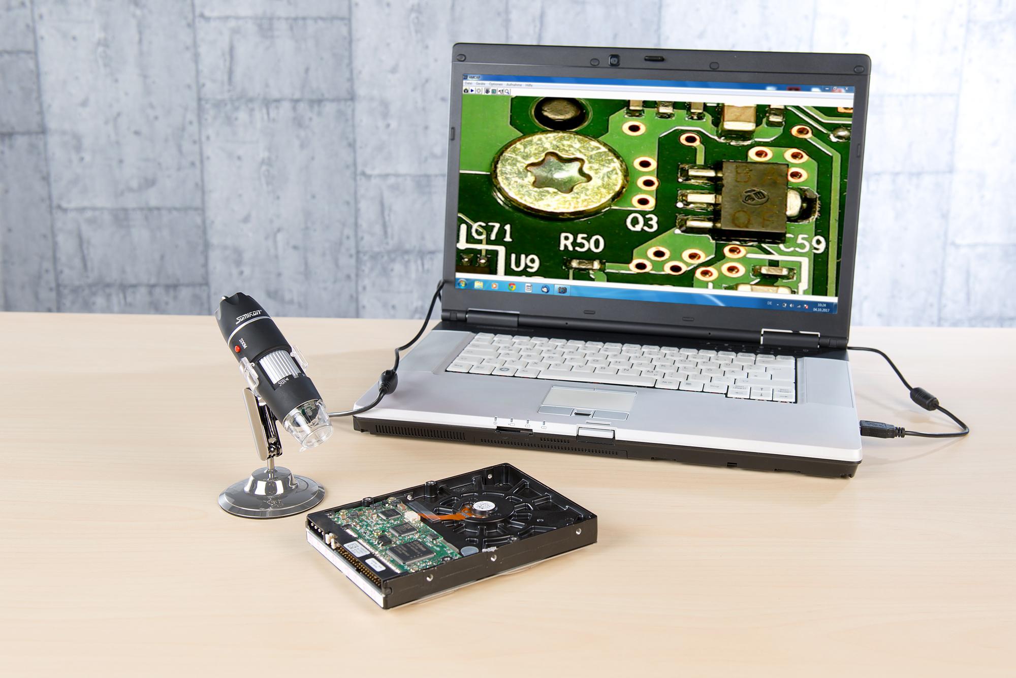 Usb mikroskop kamera somikon usb digital mikroskop kamera youtube