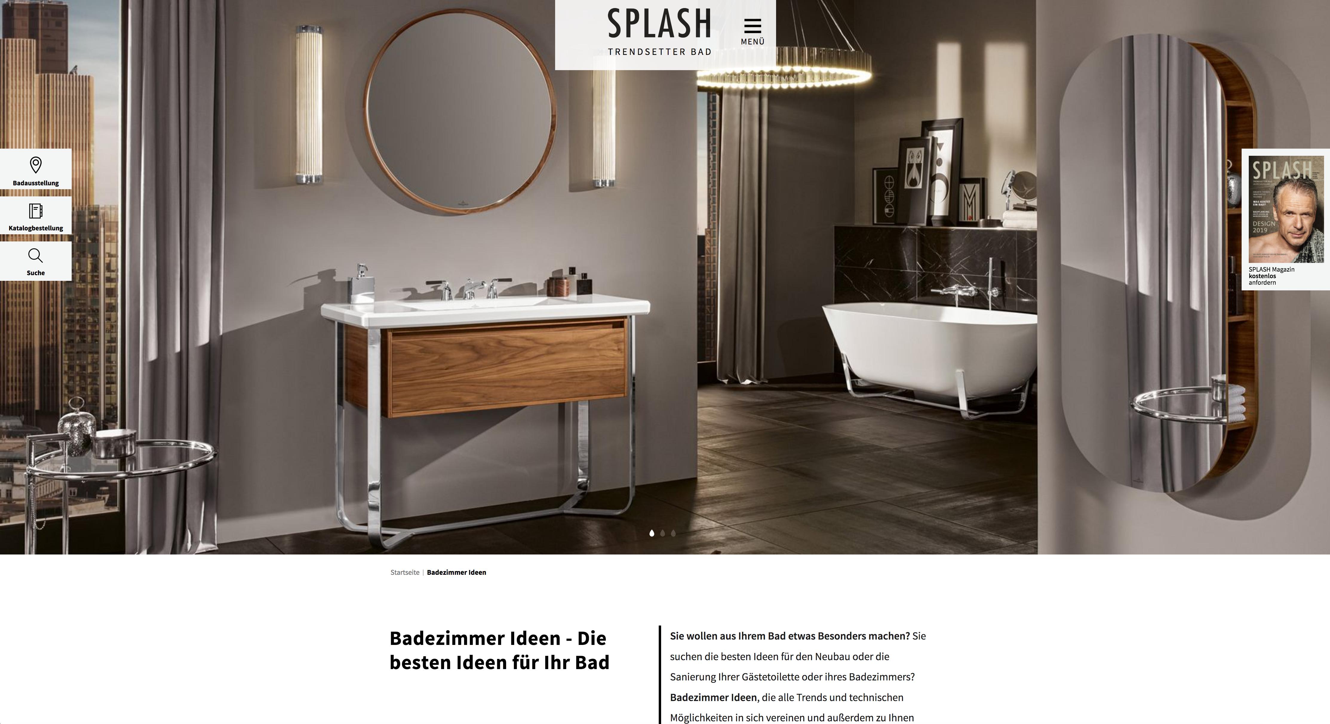 NEU: SPLASH Bad - der Trendsetter fürs Badezimmer im neuen Look ...