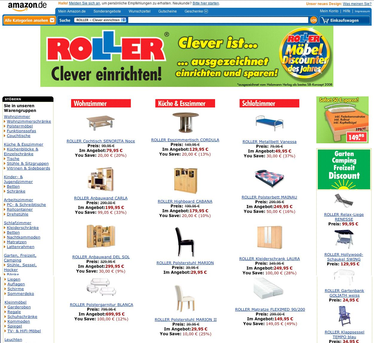 Durchbruch Im Online Möbelhandel Roller Gmbh Co Kg