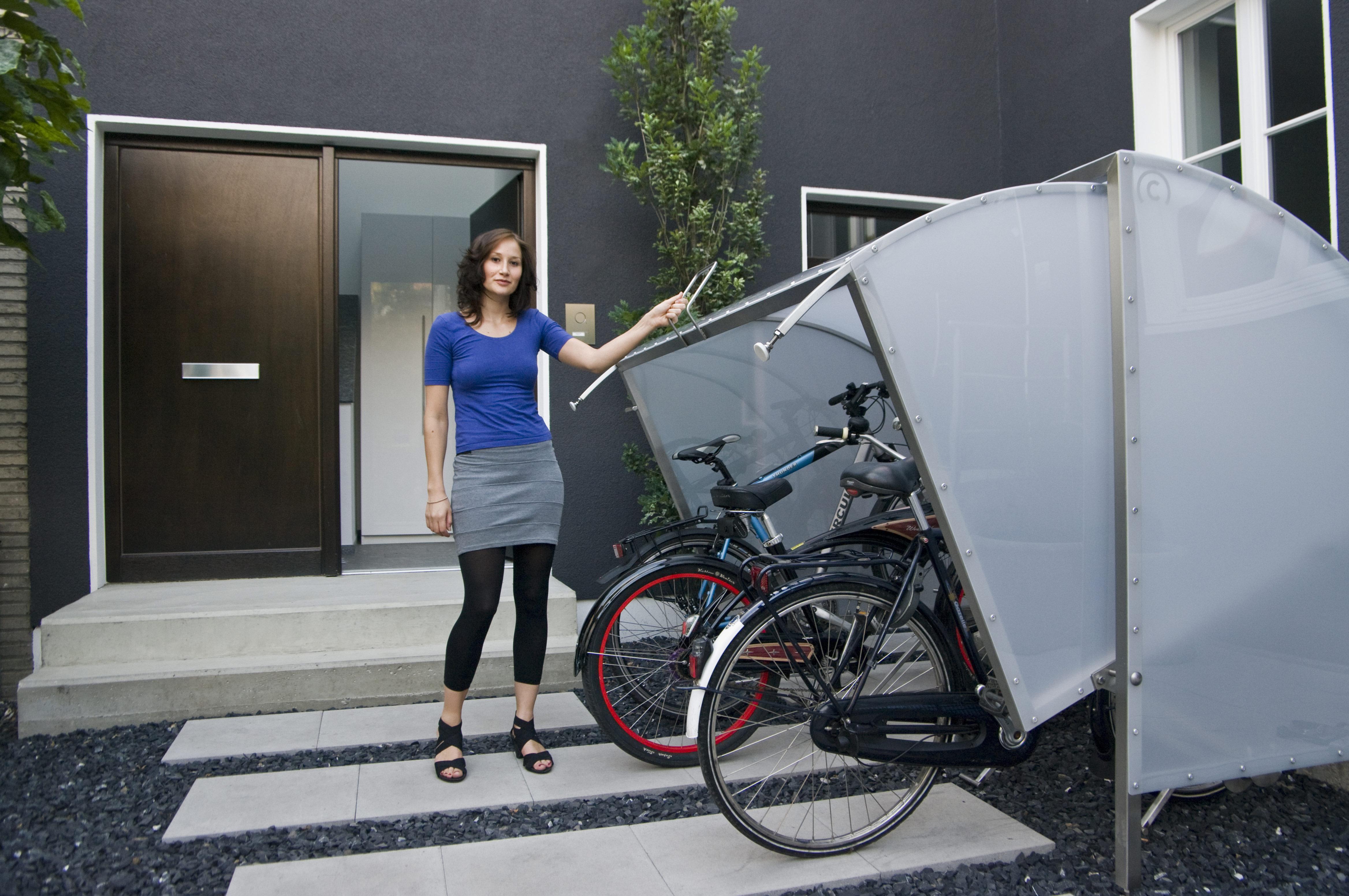 mini garage sicherer stellplatz f r fahrrad und co. Black Bedroom Furniture Sets. Home Design Ideas
