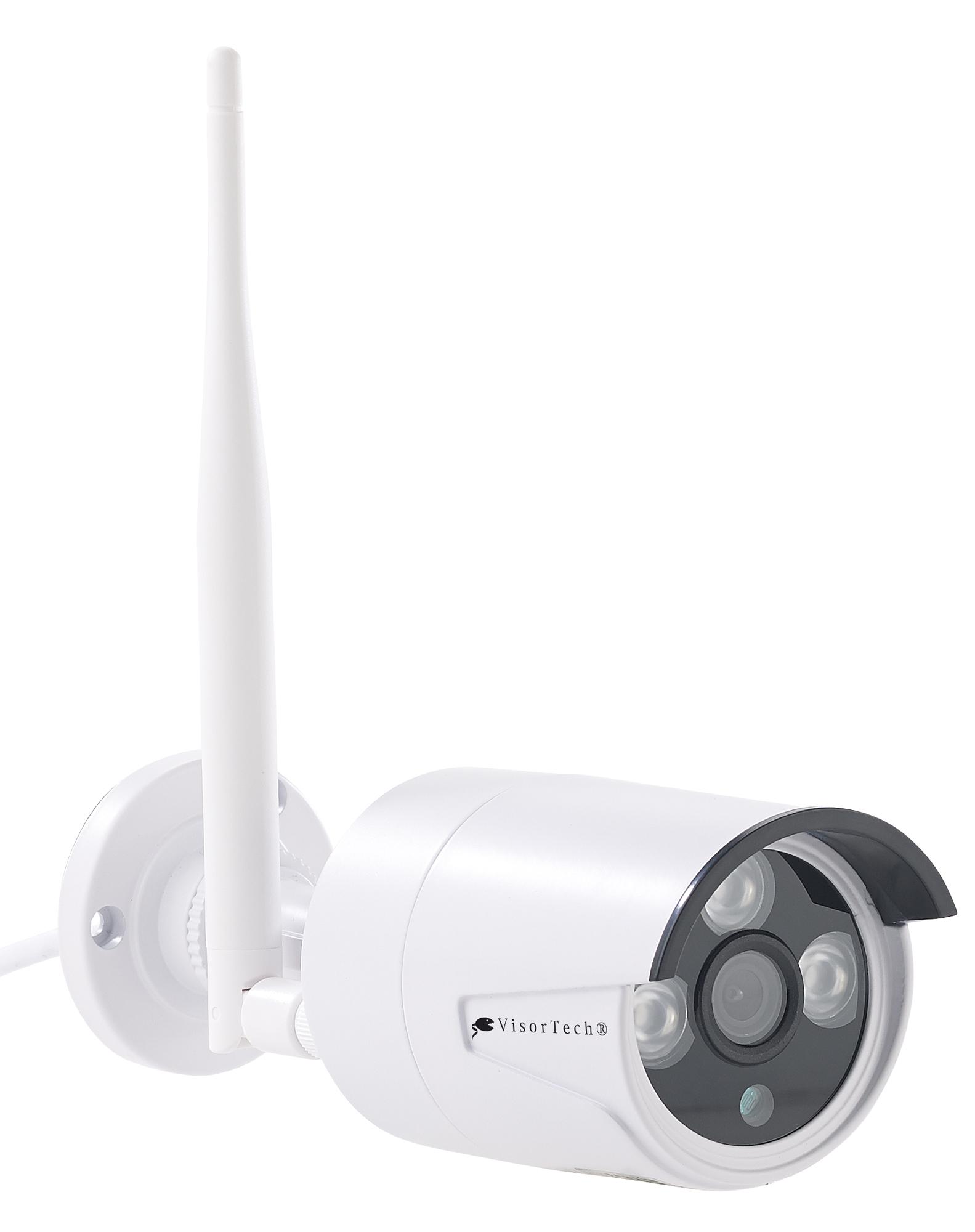 VisorTech Funk-Überwachungssystem, HDD-Recorder & 4 IP-Kameras, Plug ...