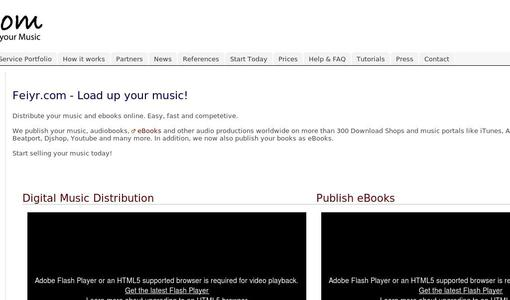 Sell music and eBooks with Feiyr