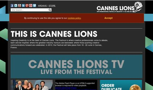 "Weitere Infos zu ""Cannes Lions 2012 Entries Reach All Time High Over 34,000 Entries Across 15 Categories"""