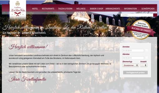 Website des Hotels