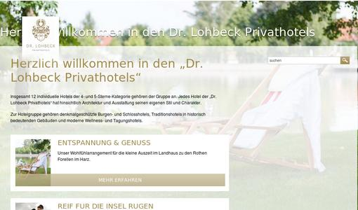 Website der Hotelgruppe