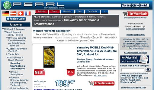 "Weitere Infos zu ""simvalley MOBILE Dual-SIM-Smartphone SPX-34 OctaCore 5.0"", Android 4.4"""