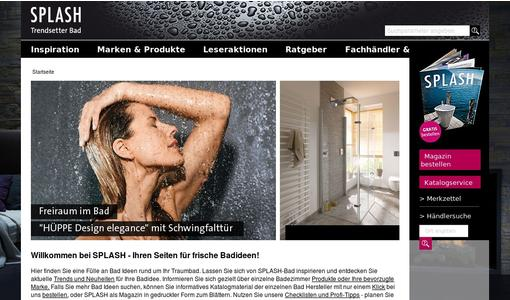 SPLASH Trendsetter Bad - neue Badideen