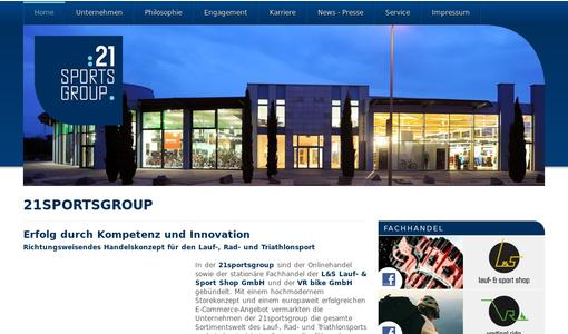 21sportsgroup - Corporate Website