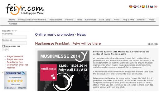 Musikmesse Frankfurt : Feiyr will be there