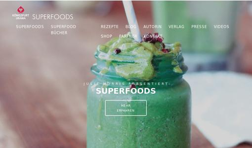Superfood Webseite