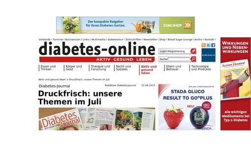 diabetes-online.de das Webangebot des Diabetes-Journals