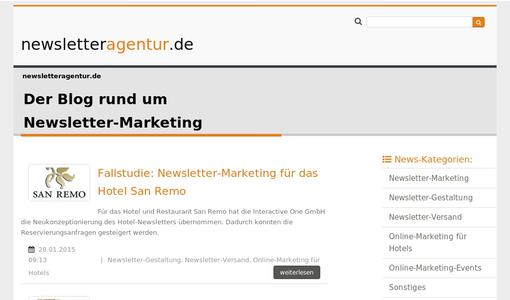 Blogseite newsletteragentur.de