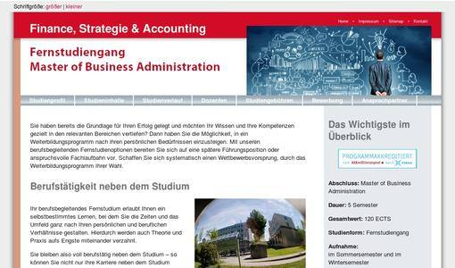 "Weitere Infos zu ""Neues Fernstudium: MBA Finance, Strategie & Accounting"""