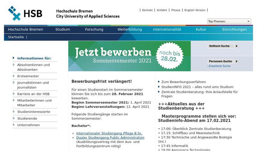 Hochschule Bremen Erfolgreich Bewerben 10