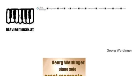 The webside of Georg Weidinger as a musician