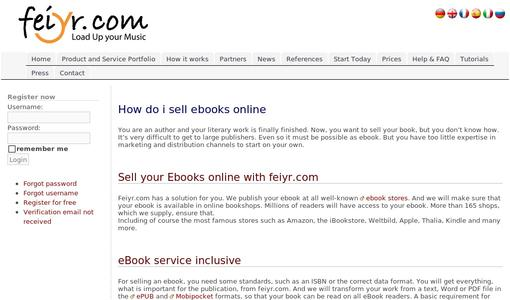 How so I sell ebooks online?