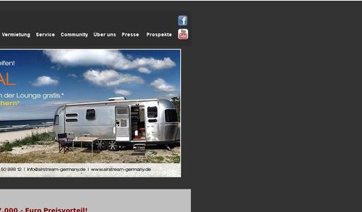 Airstream Germany Website