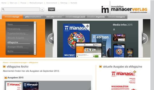 eMagazine immobilienmanager
