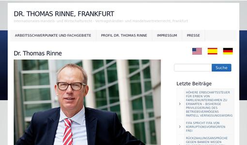 Homepage Dr. Thomas Rinne