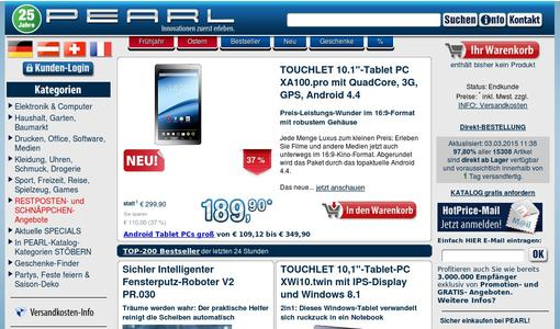 "Weitere Infos zu ""TOUCHLET 6,98""-Tablet PC SX7.slim mit Android 4.4, Bluetooth 4.0, UMTS"""
