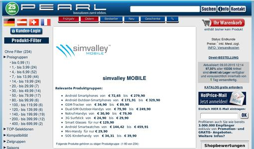 "Weitere Infos zu ""simvalley MOBILE Dual-SIM-Smartphone SP-144 QuadCore 4.5"", Android 4.4"""