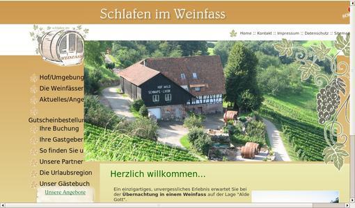 Schlafen im Weinfass, Tourist-Info Sasbachwalden, Pressemitteilung ...