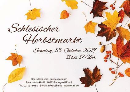 Herbstmarkt im Oberschlesischen Landesmuseum