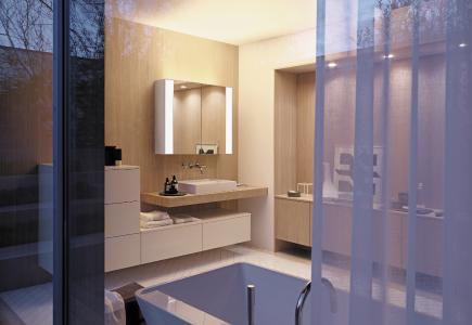 RL40 Room Light-Spiegelschränke von burgbad bringen eine neue Beleuchtungsqualität ins Bad, Foto: burgbad