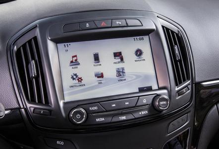 Home Page: Wird die Taste mit dem Haus-Symbol gedrückt, erscheinen die verschiedenen Funktionen des Navi 900 IntelliLink-Systems. Foto Adam Opel AG