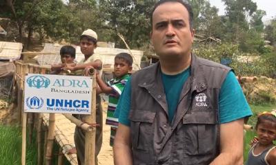 ADRA-Mitarbeiter im Rohingya-Flüchtlingslager in Kutupalong Modhurchhara, Bangladesch