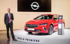 CEO Lohscheller Opens Opel Stand at Brussels Motor Show