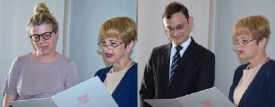 Brandenburgs Wissenschaftsministerin Dr. Martina Münch überreicht die Ernennungsurkunden