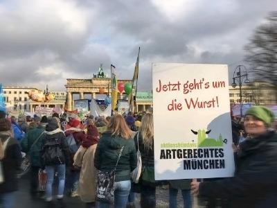 Aktionsbündnis Artgerechtes München Demo Berlin 2018