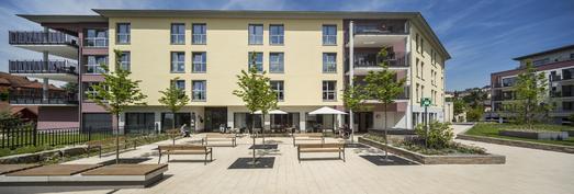 Das Areal, auf dem die Baumaßnahme Schlossbergterrasse errichtet wurde, umfasst eine Fläche von 14.000 m², Foto: Caparol Farben Lacke Bautenschutz/Martin Duckek