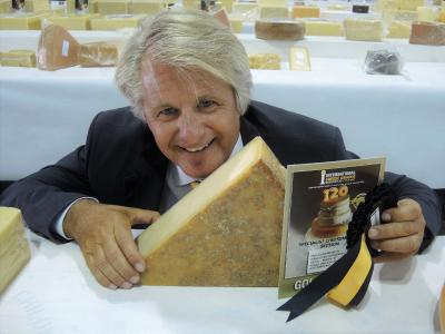 Affineur Walo von Mühlenen with the award winning LE Gruyere AOP, extra Switzerland, matured for 14 month