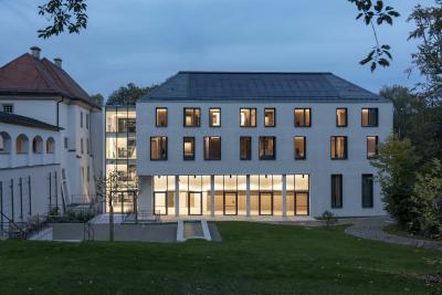 """Die neue Küferei von Kloster Irsee: Projekt der """"Architektouren 2021"""" / Achim Bunz, © Schwäbisches Bildungszentrum Irsee"""