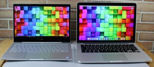 Xiaomi Air vs. MacBook Pro