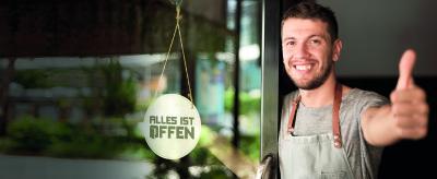 Alles-ist-offen.de Die kostenlose Gelegenheit für Gastronomen und Bürger. CMYK