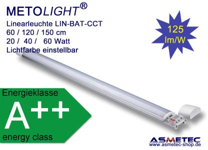 METOLIGHT LED-Linearleuchte BAT-CCT mit einstellbarer Lichtfarbe