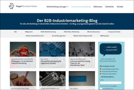 Vogel Business Media launcht den ersten B2B-Marketing-Blog für Industriethemen (Foto: Vogel Business Media)