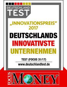 """Innovative Badlösungen """"made in Germany"""": Möbelspezialist burgbad zählt innerhalb der Sanitärbranche zu den Top Ten der innovativsten Unternehmen Deutschlands / Fotograf / Quelle  Logo: Focus Money"""