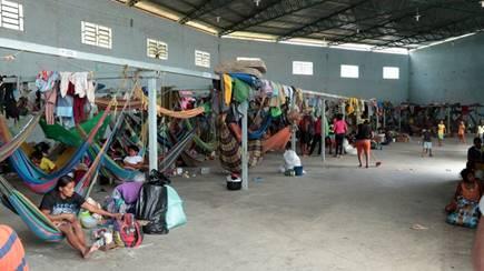 Notbehausung für venezolanische Migranten in Brasilien © Foto: ADRA International