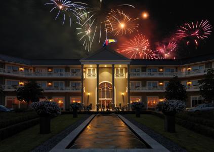 Haupthaus Nacht Feuerwerk