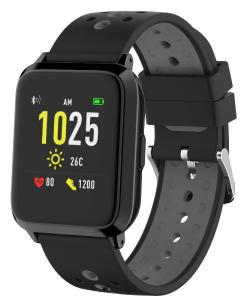 newgen medicals GPS-Sportuhr SW-420.hr, Always-On-Display, Bluetooth, App, IP68, 1 Monat. Laufzeit