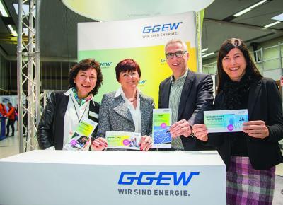 Der Messeauftritt der GGEW AG auf der Energie- und Baumesse 2017 / Foto: GGEW AG/Marc Fippel Fotografie
