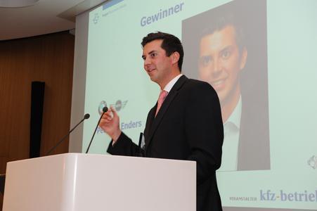 Peter Enders, Gewinner des Junior Award 2011